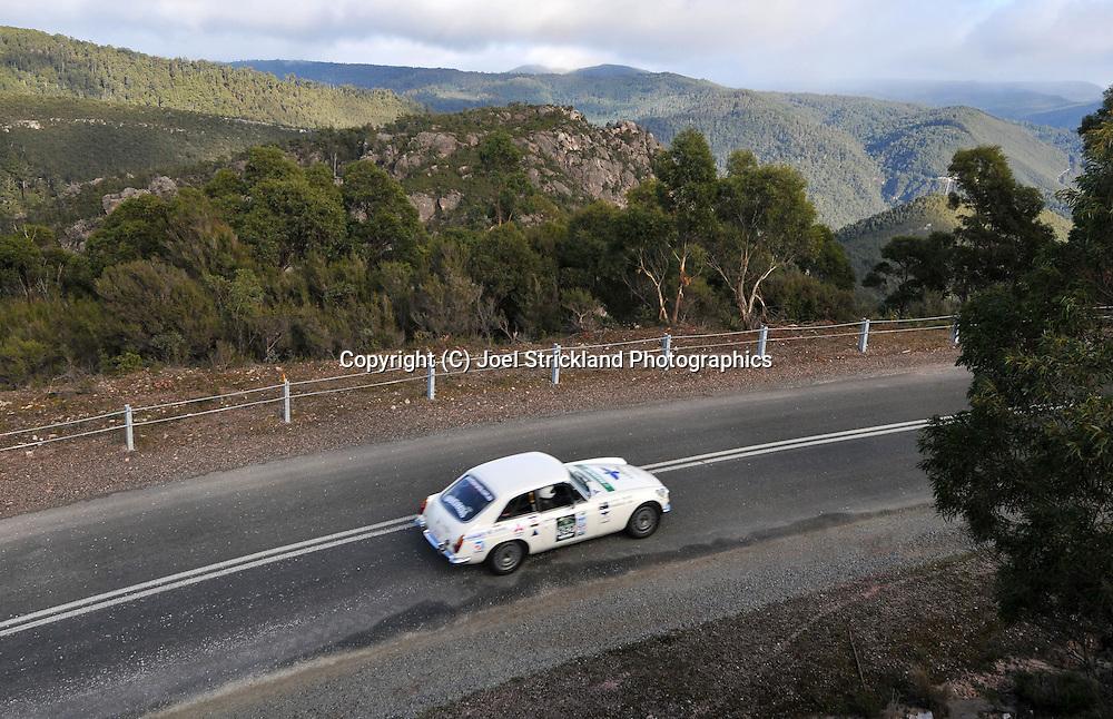 John Batkin & Alan Ramsdale .1967 MG BGT.Day 4.Targa Tasmania 2009.2nd of May 2009.(C) Joel Strickland Photographics.