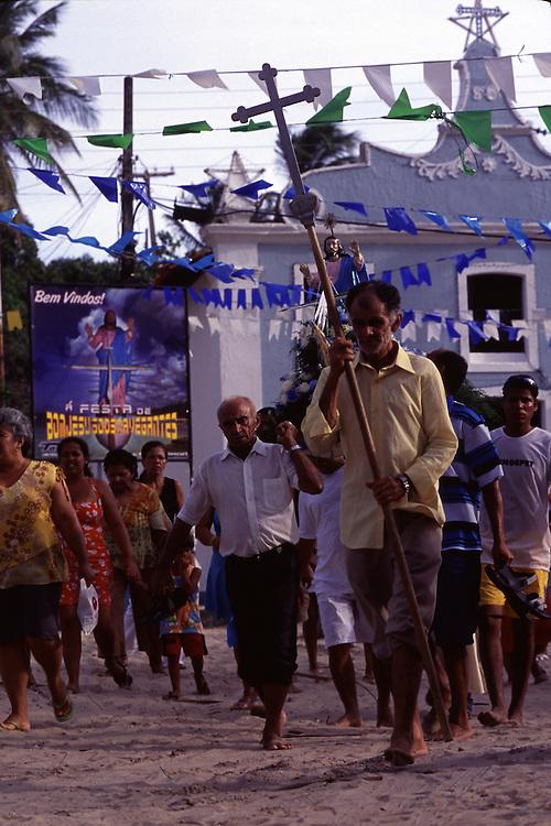 Mangue Seco _ BA, Brasil...Enfeites de uma festa popular em uma igreja em Mangue Seco...Ornaments of popular festival in the church in Mangue Seco...Foto: BRUNO MAGALHAES / NITRO