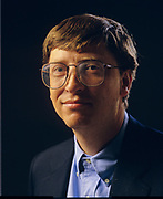 Bill Gates photographed at Microsoft in Redmond, Washington, July, 1993
