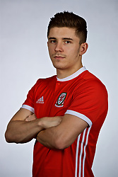 NANNING, CHINA - Saturday, March 24, 2018: Wales' Declan John during a squad photo shoot at the Wanda Realm Hotel on day five of the 2018 Gree China Cup International Football Championship. (Pic by David Rawcliffe/Propaganda)