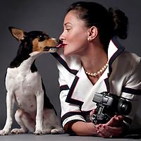 Fashion photographer Dina Scoppettone in her Sunset Beach home Studio.<br />Shmuel Thaler/Sentinel