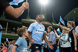 March 9, 2019 - Sydney, NSW, U.S. - SYDNEY, NSW - MARCH 09: Waratahs player Kurtley Beale (15) runs on to the field at round 4 of Super Rugby between NSW Waratahs and Queensland Reds on March 09, 2019 at The Sydney Cricket Ground, NSW. (Photo by Speed Media/Icon Sportswire) (Credit Image: © Speed Media/Icon SMI via ZUMA Press)