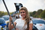 October 3-5, 2013. Lamborghini Super Trofeo - Virginia International Raceway. Grid girl.