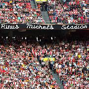 NLD/Amsterdam/20070811 - 12de Johan Cruijff Schaal, Ajax - PSV, spandoek met tekst Rinus Michels stadion