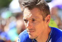 Philippe Gilbert (BEL) Deceuninck-Quick Step at sign on before the start of Stage 5 of La Vuelta 2019 running 170.7km from L'Eliana to Observatorio Astrofisico de Javalambre, Spain. 28th August 2019.<br /> Picture: Eoin Clarke | Cyclefile<br /> <br /> All photos usage must carry mandatory copyright credit (© Cyclefile | Eoin Clarke)