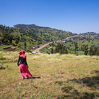 Mawerdi Adem, 24, walks in the remote areas near Jarso, Ethiopia to educate women and men about maternal health concerns.