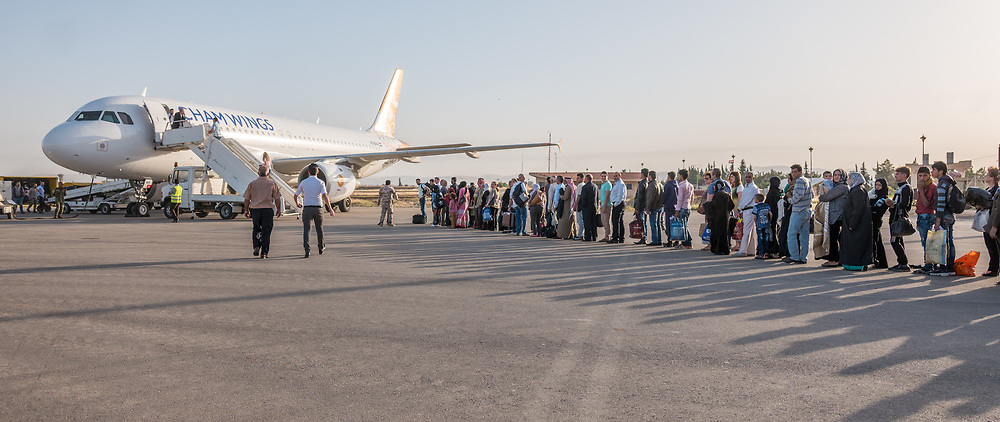 Early morning departure on Cham Wings to Damascus.