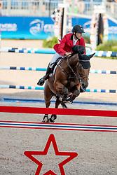 Devos Pieter, BEL, Espoir<br /> Tryon - FEI World Equestrian Games™ 2018<br /> Springen Zeitspringprüfung Teamwertung Einzelwertung 1 Runde<br /> 19. September 2018<br /> © www.sportfotos-lafrentz.de/Dirk Caremans