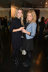 Left to right, FRANCESCA ALLEN and HETTY CHIDWICK at a preview of the Hockley Autumn -Winter 2013/2014 Collection at Hockley, 20 Conduit Street, London on 26th November 2013.