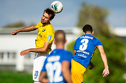 Mustafa Nukić of Bravo vs Dušan Stojinović of Celje during football match between NK Bravo and NK Celje in 13th Round of Prva liga Telekom Slovenije 2019/20, on October 5, 2019 in ZAK stadium, Ljubljana, Slovenia. Photo by Vid Ponikvar / Sportida