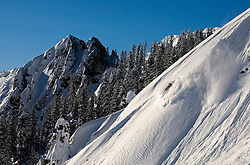 Rylan Cordova is chest deep in pow on Tahoe's West Shore<br />