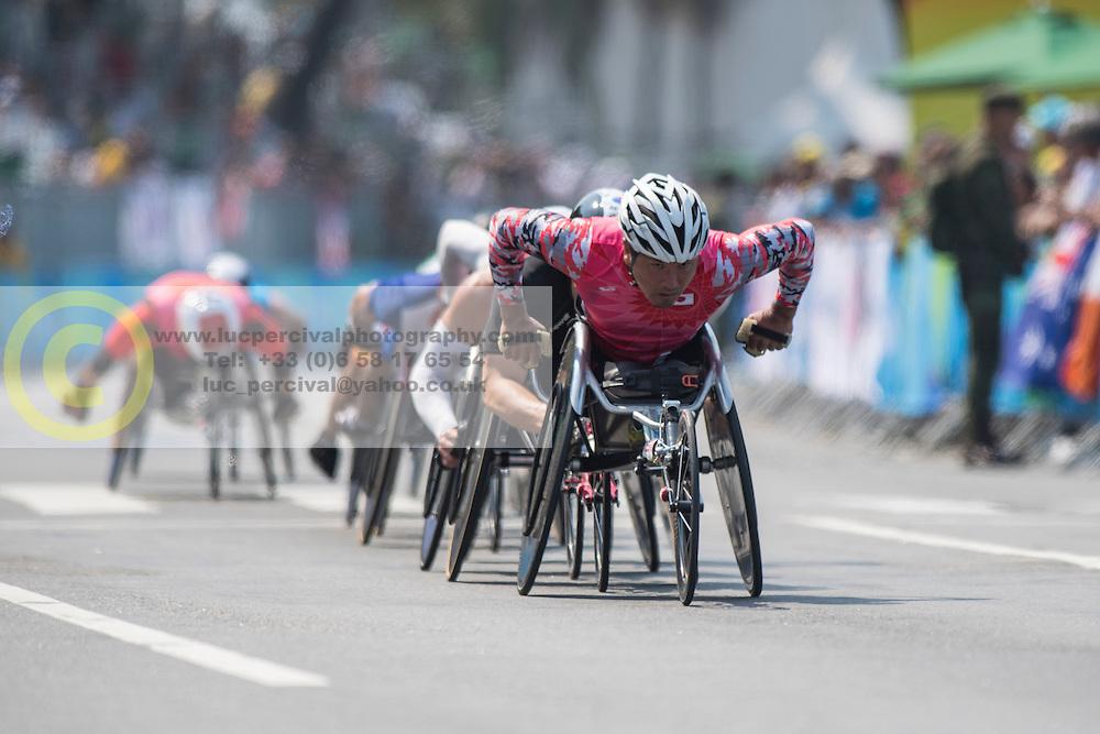 T52/53/54 Marathon at Rio 2016 Paralympic Games, Brazil