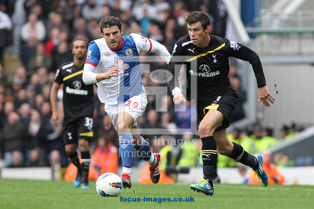 Picture by MIchael Sedgwick/Focus Images Ltd. 07900 363072.23/10/11.Simon Vukcevic of Blackburn and Gareth Bale of Tottenham in action during the Barclays Premier League match at Ewood Park stadium, Blackburn.