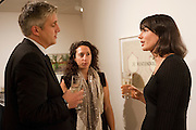 NEIL WENMAN; VICKY CLEMENTS; SONJA JUNKERS, Reception of the Silent Auction for the South London Gallery.  Hauser and Wirth. Savile Row. London. 13 October 2011. <br /> <br />  , -DO NOT ARCHIVE-© Copyright Photograph by Dafydd Jones. 248 Clapham Rd. London SW9 0PZ. Tel 0207 820 0771. www.dafjones.com.