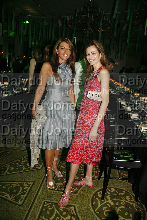 Mrs. Diamantis Lemos and Mrs. Maravan Chatila, Gala champagne reception and dinner in aid of CLIC Sargent.  Grosvenor House Art and Antiques Fair.  Grosvenor House. Park Lane. London. 14 June 2006. ONE TIME USE ONLY - DO NOT ARCHIVE  © Copyright Photograph by Dafydd Jones 66 Stockwell Park Rd. London SW9 0DA Tel 020 7733 0108 www.dafjones.com