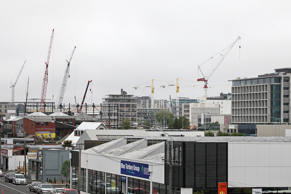 Inner city skyline during the rebuild in  Christchurch, New Zealand, Tuesday, 10 November, 2015.   Credit: SNPA / Pam Carmichael