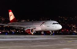 THEMENBILD - die AUA Maschine des Typs Airbus A319-112 mit der Kennung OE-LDD (Moscow) nach ihrer Landung am Flughafen Innsbruck, aufgenommen am 23. Februar 2018 in Innsbruck, Österreich // the Austrian Airlines Airbus A319-112 aircraft with the registration number OE-LDD (Moscow) after landing at Innsbruck airport, Innsbruck, Austria on 2018/02/23. EXPA Pictures © 2018, PhotoCredit: EXPA/ JFK