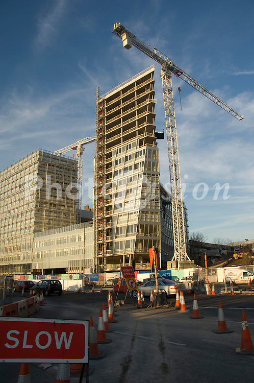 Liverpool 1 urban redevelopment; new office block being constructed UK