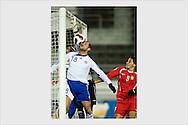 Shefki Kuqi scores a late-minute winner with his nose. Finland - Azerbaidzhan, Helsinki, November 17, 2007.