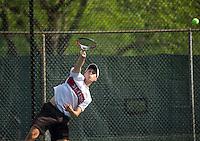 St Paul's School varsity boys tennis with St. Mark's. ©2016  Karen Bobotas Photographer