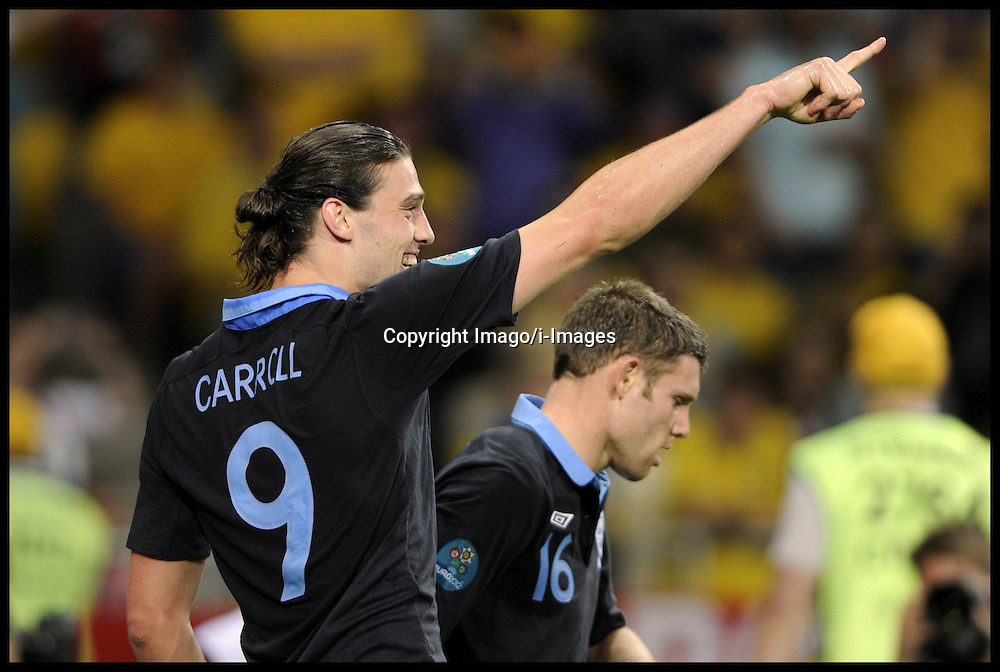 Andy Carroll during England v Sweden in the Group D Sweden v England match, June 15, 2012, in Kiev during the UEFA Euro 2012. Photo by Imago/i-Images