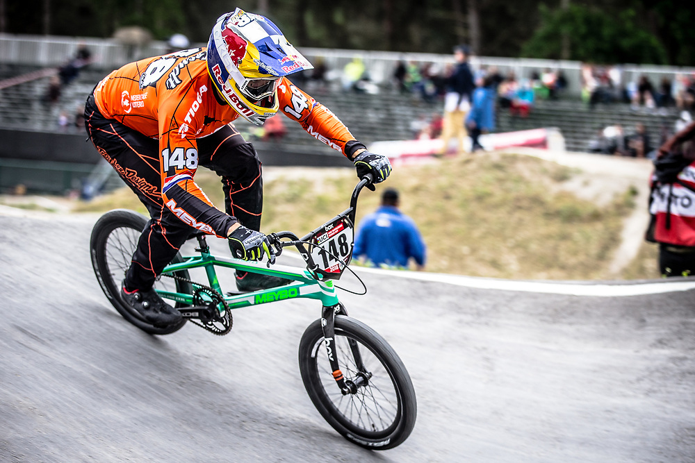 #148 (VAN GENDT Twan) NED at Round 6 of the 2018 UCI BMX Superscross World Cup in Zolder, Belgium