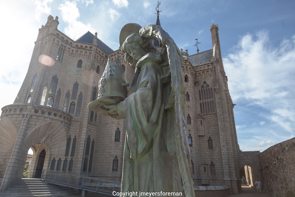 Angel at the Episcopal Palace, Astorga Spain. designed by Gaudi