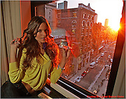 Boston, Ma   120407   Victoria Secret's Izabela Goulart  (cq) took a break from her busy schedule while paying a visit to Boston on December 4, 2007 where she stayed at XV Hotel in Boston. She was going to be hosting a viewing of the  VS fashion which was scheduled to aired later on CBS. (Essdras M Suarez/Boston Globe)/Living..