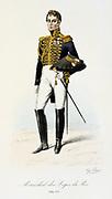 Marshall of the Royal Houshold.  From 'Histoire de la maison militaire du Roi de 1814 a 1830' by Eugene Titeux, Paris, 1890.