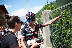 Kasia Niewiadoma (POL) recovers after Giro Rosa 2018 - Stage 6, a 114.1 km road race from Sovico to Gerola Alta, Italy on July 11, 2018. Photo by Sean Robinson/velofocus.com
