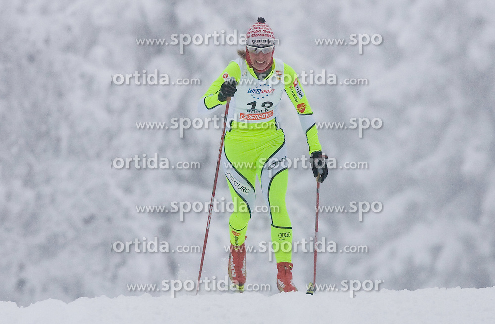 Vesna Fabjan of Slovenia at Ladies 1.4 km Free Sprint Competition of Viessmann Cross Country FIS World Cup Rogla 2009, on December 19, 2009, in Rogla, Slovenia. (Photo by Vid Ponikvar / Sportida)