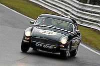 #331 Declan Jones MG B 1800 during the CSCC Adams and Page Swinging Sixties at Oulton Park, Little Budworth, Cheshire, United Kingdom. October 15 2016. World Copyright Peter Taylor/PSP. <br /> Copy of publication required for printed pictures.  Every used picture is fee-liable. http://archive.petertaylor-photographic.co.uk