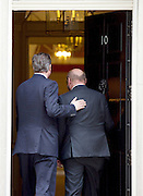 Martin Schulz <br /> President of the European Parliament<br /> meets David Cameron, Prime Minister in Downing Street <br /> 18th June 2015 <br /> <br /> Martin Schulz <br /> David Cameron <br /> <br /> <br /> Photograph by Elliott Franks <br /> Image licensed to Elliott Franks Photography Services
