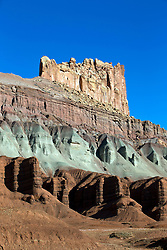 The Castle rock formation, Capitol Reef National Park, Utah, United States of America