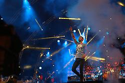 Gusttavo Lima no palco central do Planeta Atlântida 2015, que acontece nos dias 30 e 31 de Janeiro de 2015, na Saba, em Atlântida. FOTO: Jefferson Bernardes/ Agência Preview