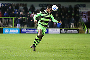 Forest Green Rovers Dale Bennett(6) controls the ball during the Vanarama National League match between Forest Green Rovers and Torquay United at the New Lawn, Forest Green, United Kingdom on 1 January 2017. Photo by Shane Healey.