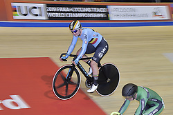 March 2, 2018 - Apeldoorn, NETHERLANDS - Belgian Lotte Kopecky pictured in action during the Points race part of the omnium women event at the 2018 world championships track cycling in Apeldoorn, the Netherlands, Friday 02 March 2018. The track cycling worlds take place from 28 February to 04 March. BELGA PHOTO YORICK JANSENS (Credit Image: © Yorick Jansens/Belga via ZUMA Press)