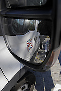 Poznan, POLAND, GB  Rowing, truck door, through driver mirror, FISA World Rowing Championships. held on the Malta Rowing lake, Thursday  20/08/2009 [Mandatory Credit. Peter Spurrier/Intersport Images]