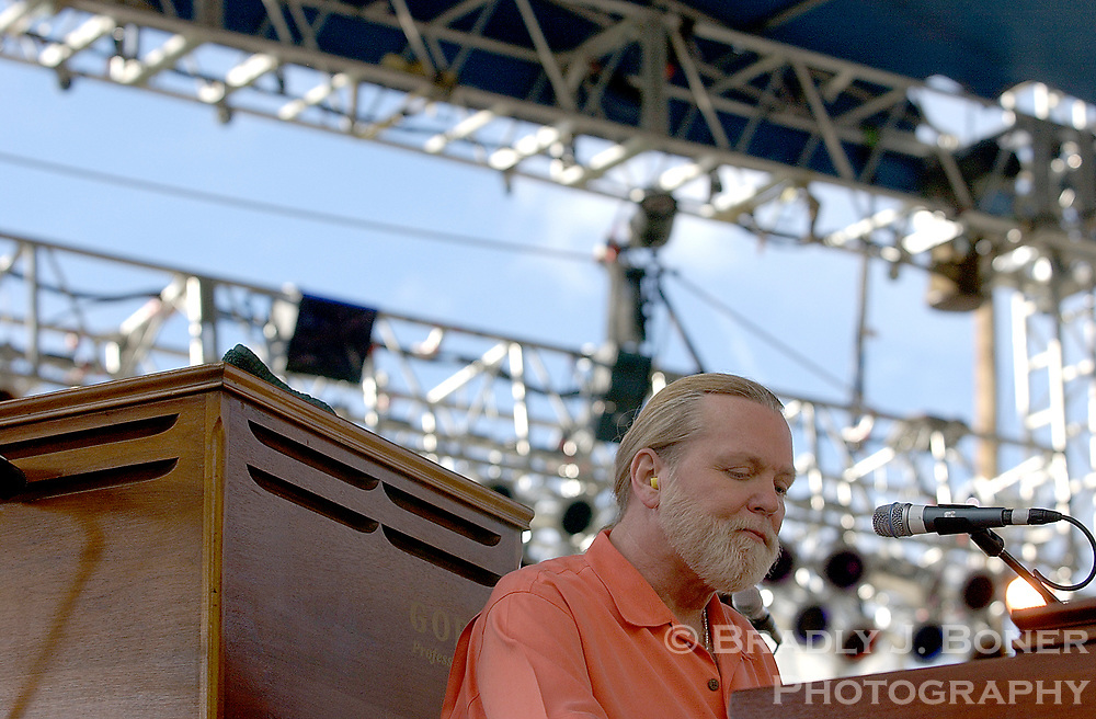 Gregg Allman and the Allman Brothers perform at Snow King Mountain on July 7, 2014. Allman died Saturday at age 69.