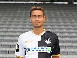 14.07.2015, Scholz Arena, Aalen, GER, 2. FBL, VfR Aalen, Fototermin, im Bild Alexandros Kartalis ( VfR Aalen ) // during the official Team and Portrait Photoshoot of German 2nd Bundesliga Club VfR Aalen at the Scholz Arena in Aalen, Germany on 2015/07/14. EXPA Pictures © 2015, PhotoCredit: EXPA/ Eibner-Pressefoto/ Langer<br /> <br /> *****ATTENTION - OUT of GER*****