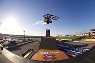 Douglas Oliveira during BMX Big Air Practice at 2014 X Games Austin in Austin, TX.    ©Brett Wilhelm/ESPN