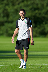 CARDIFF, WALES - Monday, August 30, 2010: Wales' Ched Evans during training at the Vale of Glamorgan ahead of the UEFA Euro 2012 Qualifying Group 4 match against Montenegro. (Pic by David Rawcliffe/Propaganda)