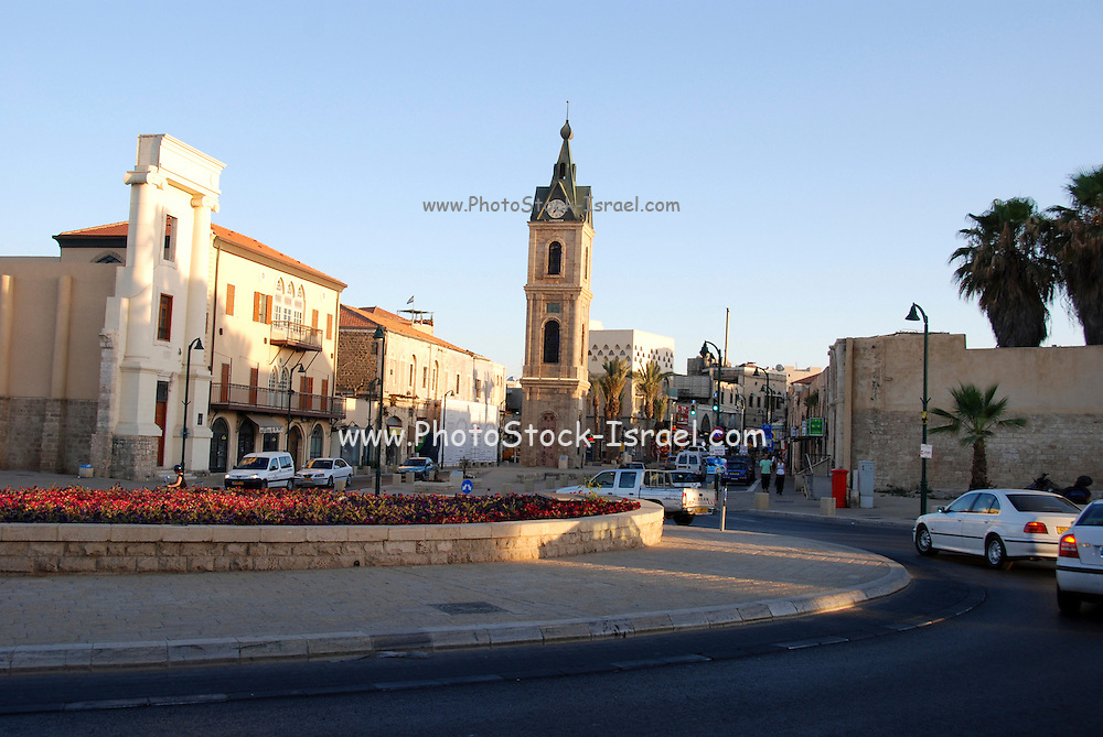 Israel, Tel Aviv, Jaffa, The Old clock tower in Jaffa, Clock Square, built in 1906 in honor of Sultan Abed al-Hamid II's 25th anniversary, became the center of Jaffa, and it is centered between Jaffa's markets