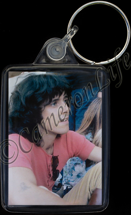 Donovan - Key Fob with image approx. 35mm x 50mm from 1970 Isle of Wight Music Festival exhibition on the front. The reverse has an exclusive CameronLife  1970 IW festival design