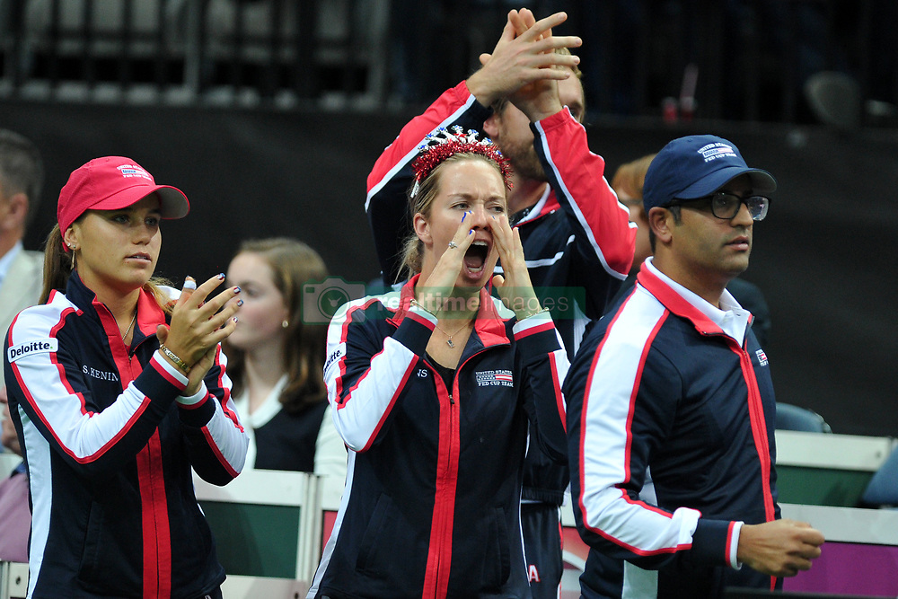 November 10, 2018 - Prague, Czech Republic - Team of the United States in action during the 2018 Fed Cup Final between the Czech Republic and the United States of America in Prague in the Czech Republic. (Credit Image: © Slavek Ruta/ZUMA Wire)