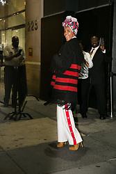 September 12, 2018 - New York, New York, United States - Activist Halima attends Calvin Klein show during New York Fashion Week on September 11, 2018 in New York City. (Credit Image: © Oleg Chebotarev/NurPhoto/ZUMA Press)