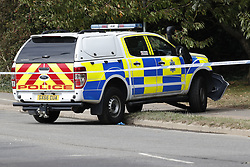 © Licensed to London News Pictures. 23/09/2019. Littlehampton, UK. The screne on the A259 road near Littlehampton where two police officers were hit by a car early this morning. A driver has been arrested on suspicion of attempted murder after three people, two of them police officers, were hit by a moving vehicle in Littlehampton. Photo credit: Peter Macdiarmid/LNP