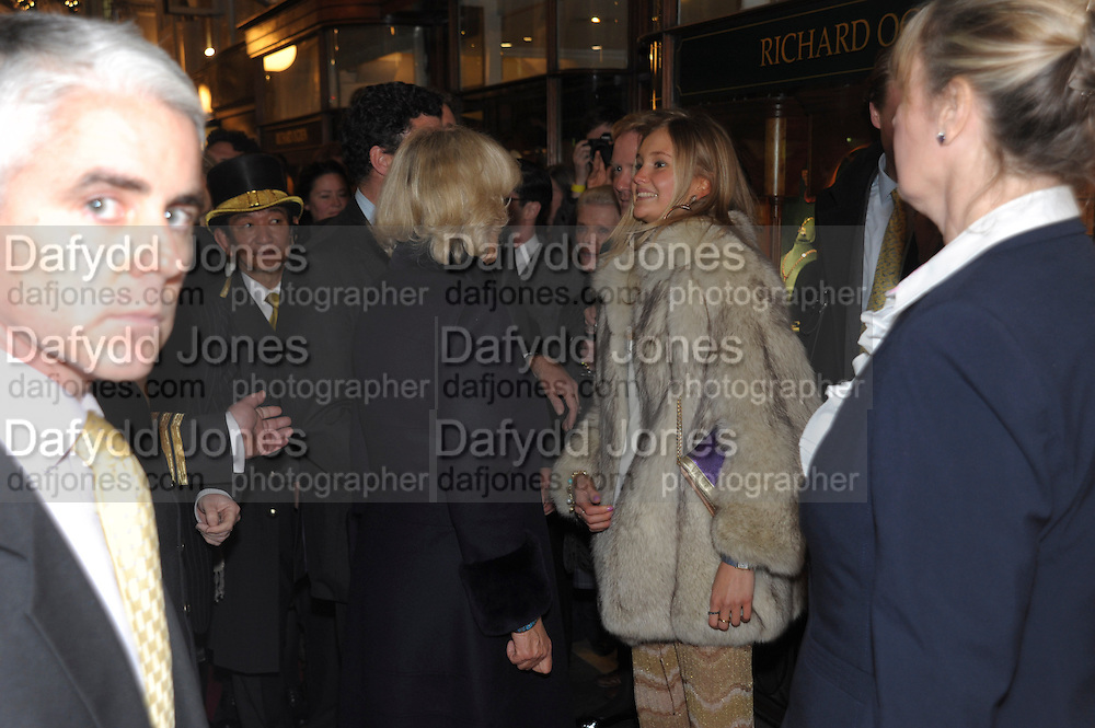 THE DUCHESS OF CORNWALL; ALEXANDRA SPENCER  The Duchess of Cornwall switches on the Christmas lights at the Burlington Arcade in Piccadilly, London, November 23,  London. 23 November 2011.