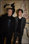 BRIAN FERRY AND TARA FERRY at the Private view for A Strong Sweet Smell of Incense<br /> A Portrait of Robert Fraser, Curated by Brian Clarke. Pace Gallery. 6 Burlington Gardens. London. 5 February 2015.