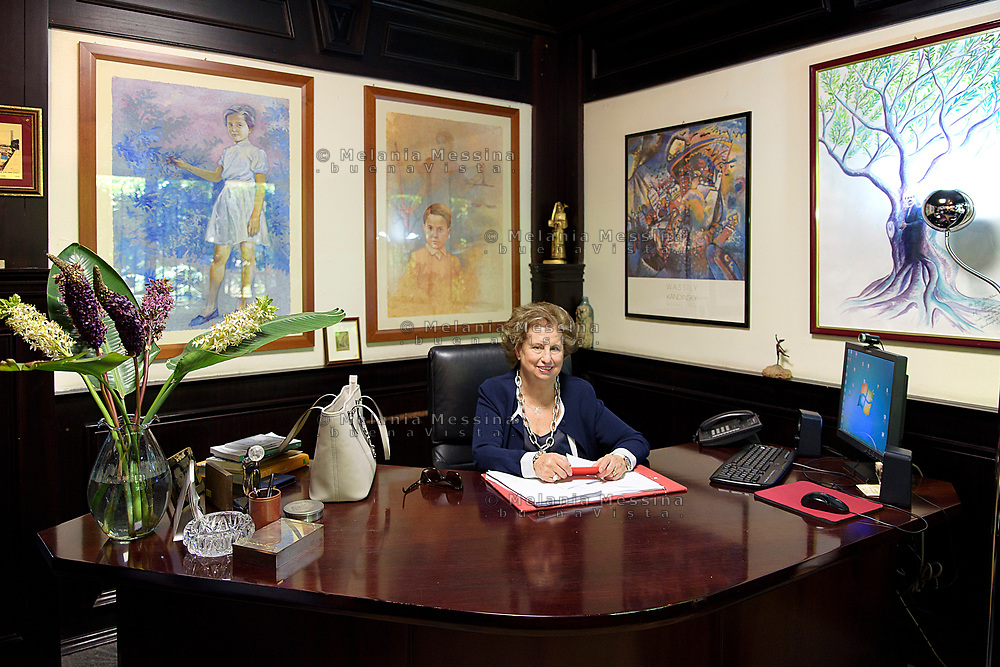 Maria Falcone nel suo studio nella sede della fondazione intestata a Giovanni Falcone a Palermo.<br />